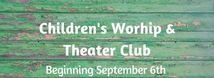 Children's Ministry Worship & Theater Club